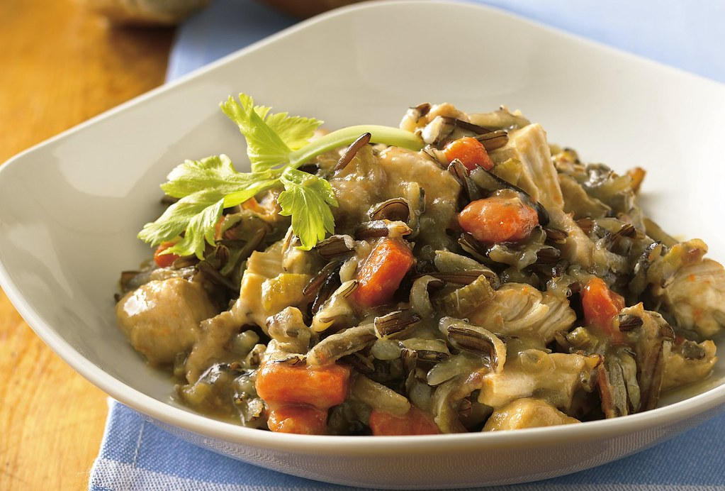 Slow Cooker Turkey-Wild Rice Casserole Recipe