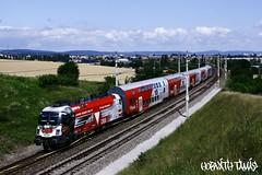 1116 246-8, 19.07.2009, Mdling (mienkfotikjofotik) Tags: eisenbahn railway taurus bahn bb kolej 1116 sterreichische vast werbelok es64u2 bundesbahnen bb
