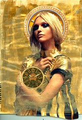 Invicta - Patron Saint of Chronometry (Imajica Amadoro) Tags: fashion collage design handmade originalart contemporaryart saints places alteredbook timepieces chronometer magazineart bookart alteredart papercollage organicart artistsbooks patronsaints mommsen alteredbookpages magazinecollage analogart catherinelmommsen catherinemommsen alteredbooksandhandmadejournals