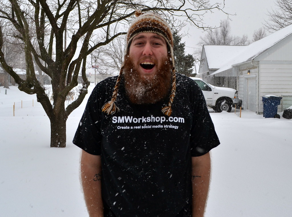 There is snow in my beard!