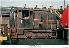 Carborundum GE 40T #1 (Robert W. Thomson) Tags: railroad train diesel tennessee railway trains locomotive trainengine ge switcher switchengine carborundum 40t jacksboro 2axle endcabswitcher 40ton