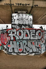 10foot Teko Rodeo Horny (datachump) Tags: london graffiti tags rodeo horny westway dubs 10ft teko 10foot