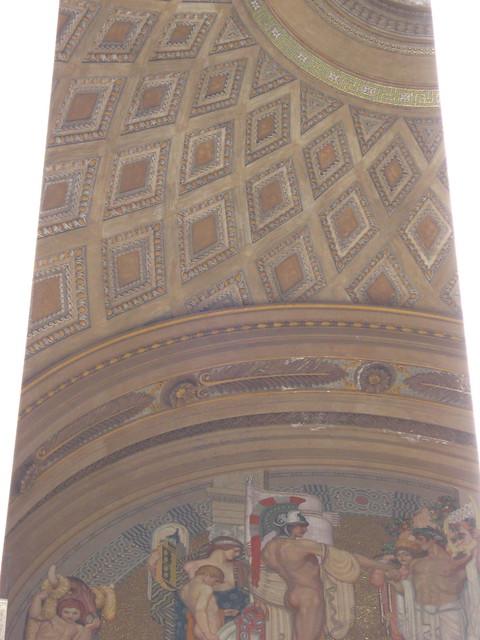 ローマの天井画のフリー写真素材
