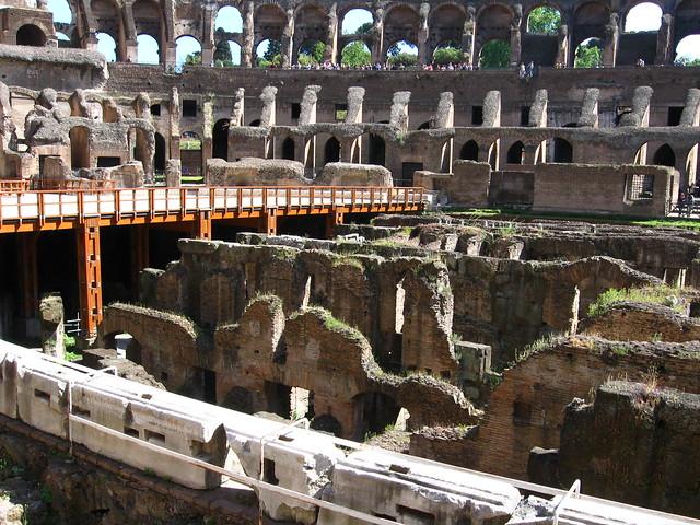 ローマのコロッセオのフリー写真素材