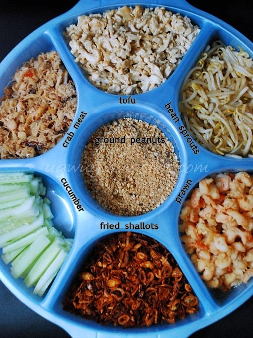 "Spring Roll ""Popiah"" ingredients"
