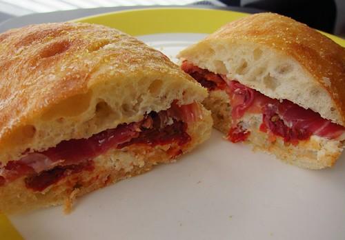 Prosciutto Ricotta Sandwich