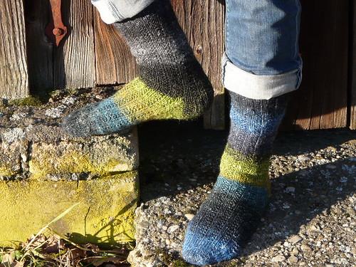 Garter Rib Socks - Noro Kureyon Sock