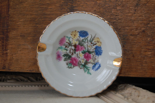floral ashtray