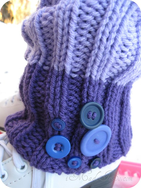 buttons on leg warmers