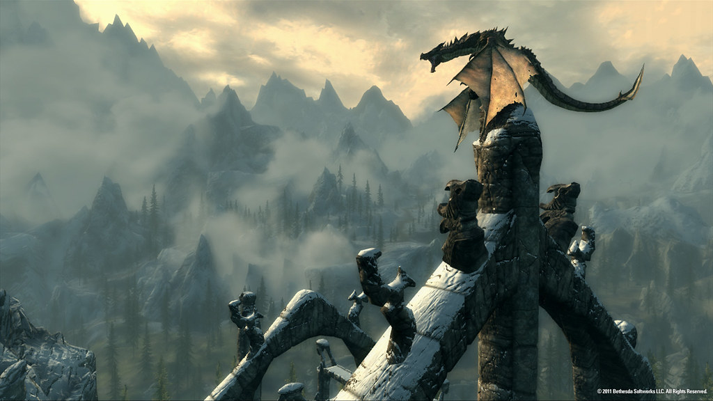 Dragons in Skyrim