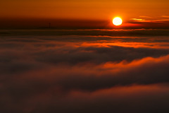 sea of fog (stephan_amm) Tags: winter sunset bamberg franconia inversion sonne oberfranken altenburg
