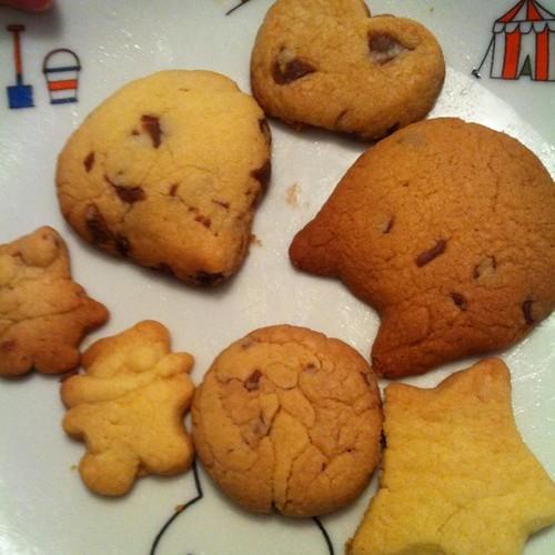 我が家の女子部からバレンタインのクッキーいただきました!さ、ピカチュウはどれだ?