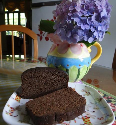 Bolo de grão de bico e chocolate