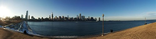 Chicago Skyline Panorama from Adler Planetarium by southerntabitha