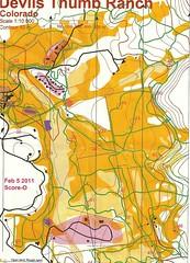 Snowshoe Orienteering Contest Map