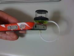 iPhoneにブロギー360°レンズ装着、側面