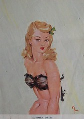 Summer dress (Martha-Ann48) Tags: ladies artist risque lovelies calendars davidwright 195051