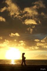 Sunset Boulevard (jfortugaleza) Tags: sunset silhouette silhouettes sun couple lover love lovers walk boulevard clouds hallmark