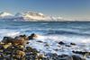 Bakkejord View (Reed Ingram Weir) Tags: longexposure sea mountain norway 35mm rocks view wave arctic fjord f2 tromsø polariser ziess bakkejord canon5dii reedingramweir riwp