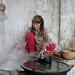 Silk processing at silk factory - Hotan, Xinjiang, China