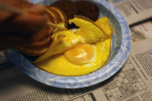 sunny side up omlette