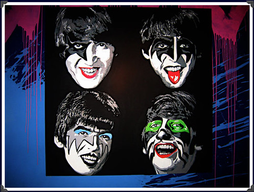 'Kiss The Beatles' by Mr. Brainwash