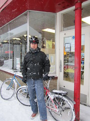 "Feb. 20 storm- 12"" (Low) Tags: snow bike bicycle ross lotus snowstorm minneapolis february mn mixte 2011 winterbike studdedtire alabamans sunrisecyclery lotusspecial"