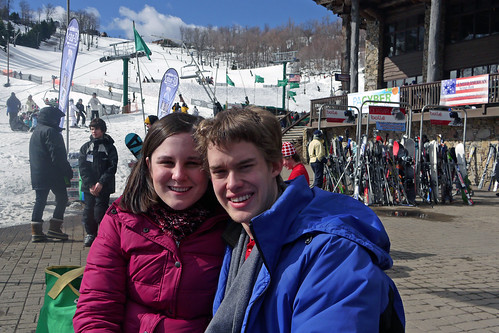 Before our first ski lesson