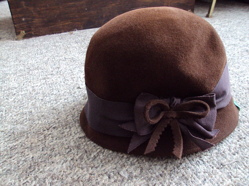 Vintage Brown Hat with Bow