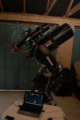 Telescope Setup6 (Anna (www.eprisephoto.com)) Tags: telescope orion celestron lodestar atik annamorris starlightxpress cpc800 314l eon80ed