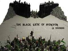 The Black Gate of Mordor (TMM) Tags: black army star julien gate minas lego deep lord lotr rings gandalf wars gimli rohan orc helms legolas owns mordor tirith the gondor aragron