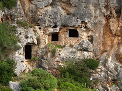 Prehistoric caves carved into the cliffs of Cales Coves (Bn) Tags: blue nature girl naked geotagged skinny boat back spain topf50 hiking lagoon unesco oxygen caves biospherereserve breeding harmony naturism topless limestone nudist coastline gorge nudity prehistoric shag menorca cala shags mediterraneansea seabirds clearwater laid minorca deepblue dipper unspoiled balearicislands bluesea balearics backtonature rockycoastline naturists calescoves palebluesky deepbluesea 50faves mediterraneanlandscape naturalenvironments rockyoutcrops crystalbluesea rurallocation naturistbeaches turquoisebluewater caminosnaturales semicircularbay geomenorca nestingontherocks aerobicdiving jumpoutofthewater smallcaves serenebluewater tranquilunspoiltplace shelteredcoves crystalclearblue unspoiledshores wonderfulclimate geo:lat=39864014 geo:lat=39864772