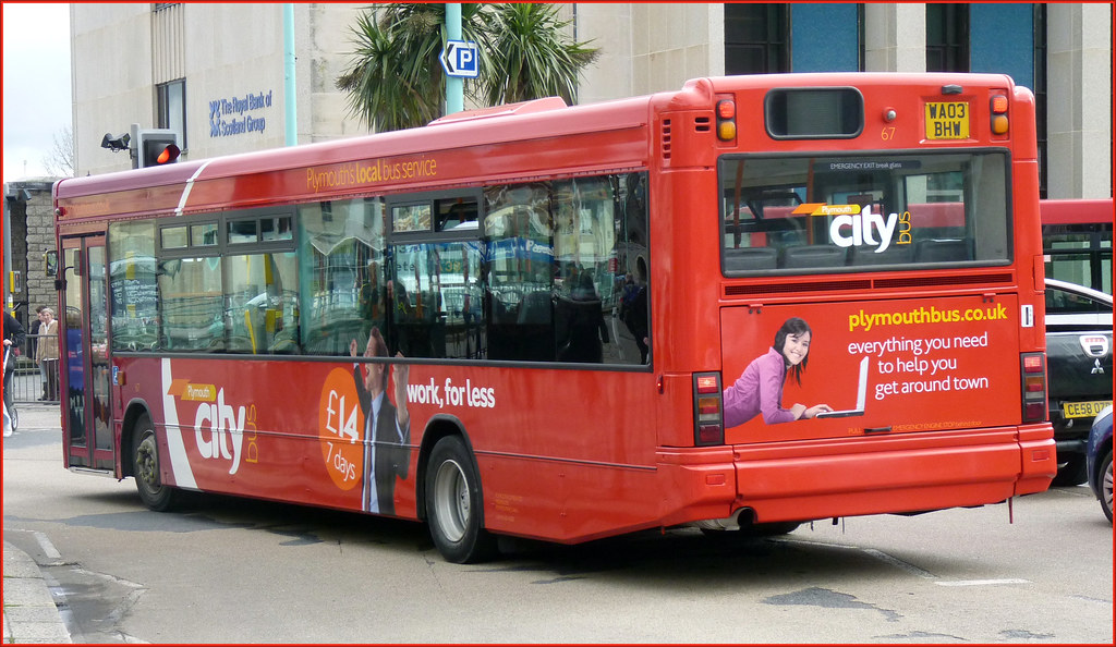 Plymouth Citybus 067 WA03BHW 22 February 2011