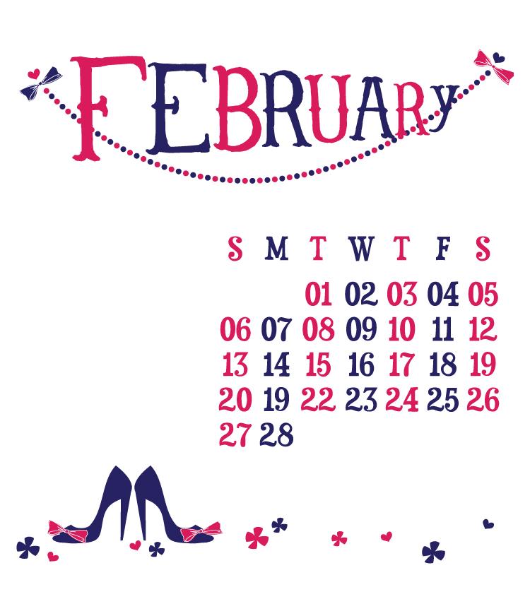 Digital Calendar—February