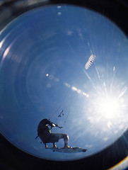 Flying under the Sun (RodaLarga) Tags: lomo lomography fisheye kitesurf beauduc