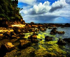 la luz , laiya Batangas (Bosso Baron) Tags: sea sky seascape beach nature water clouds rocks stones philippines greens batangas laiya laluz lovelyday joelyonzon mygearandme
