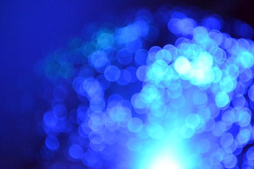 Bokeh azul
