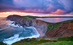 Point Reyes National Seashore (Tony Immoos) Tags: ocean california lighting sunset wallpaper sky autostitch green water clouds landscape sand surf postcard scenic wideangle olympus iceplant marincounty pointreyes e3 seashore ultrawide saltwater daytrip pointreyesnationalseashore cokin californialandscape zd nd8 ndgrad zuikodigital p121f olympuse3 918mm