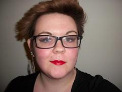 shorthair blackframeglasses