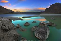 Magic Moments.. (M Atif Saeed) Tags: pakistan sunset cloud mountain mountains reflection nature water river landscape pond rocks indus supershot flickrdiamond atifsaeed gettyimagespakistanq1
