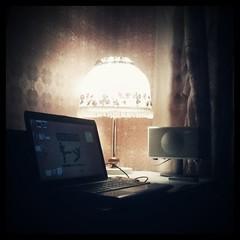 (Igor Denisov (Mio)) Tags: light lamp square laptop squareformat walden oldstuff iphoneography instagramapp uploaded:by=instagram