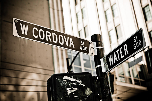 West Cordovw Street and Water Street in Gastown