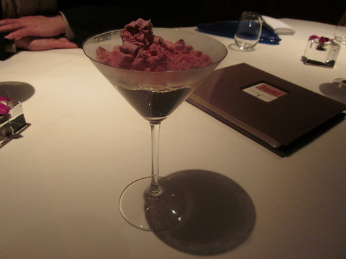 Baume - Palo Alto - February 2011 - Razztini with Freeze Dried Raspberry Ice Cream