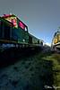 Cimetière des locomotives (Matthieu Pegard) Tags: night train gare flash rouen locomotive exploration nuit urbex cimetière soteville gélatine