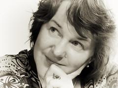 Jackie (Plutone (NL)) Tags: portrait bw female canon jackie hand zwartwit nik portret vrouw g11 kever