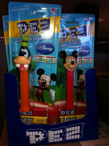 We gave away PEZ at our booth