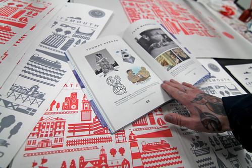 Creative Portsmouth Book - new colour screenprints