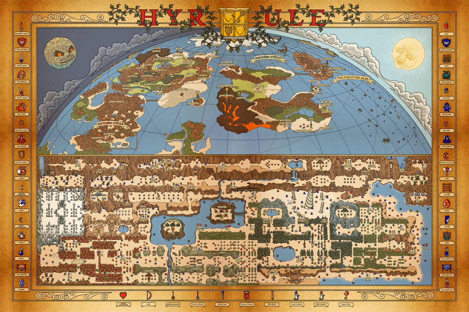httpfarmstaticflickrcomcefdo. legend of zelda map artwork  zdi forums  zelda dungeon