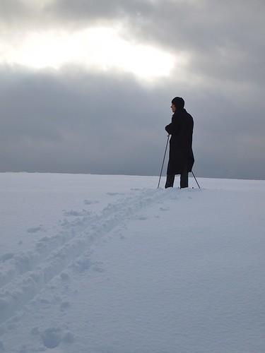 snow and sky and ski