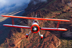 Red Baron Boeing Stearman & Superstition Mountains, AZ (jetguy1) Tags: arizona favorite classic airplane nikon aviation flight explore boeing biplane stearman airtoair superstitionmountains pt17 explored boeingstearman nikond700 capturenx2